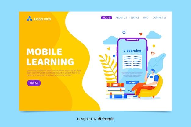 Página de inicio colorida con smartphone