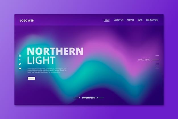 Página de inicio de coloridas luces del norte