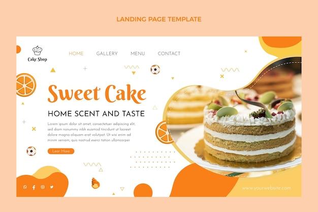 Página de inicio de comida de diseño plano