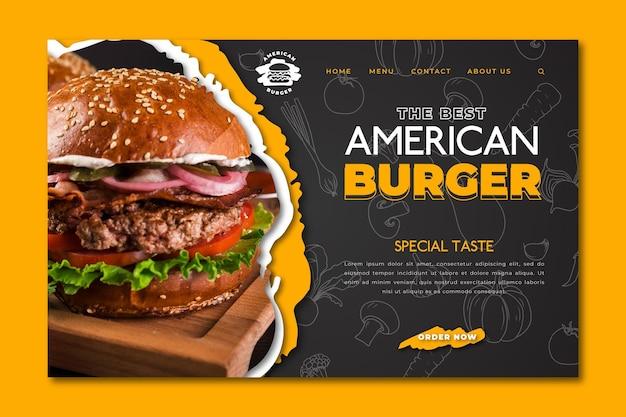 Página de inicio de comida estadounidense