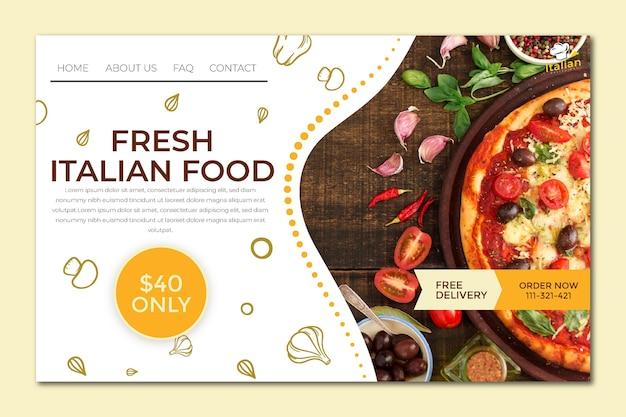 Página de inicio de comida italiana