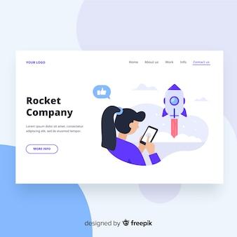 Página de inicio de la compañía rocket