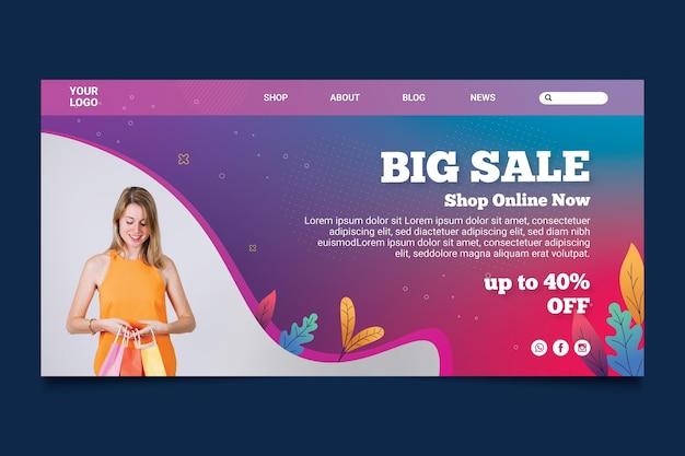 Página de inicio de compras en línea