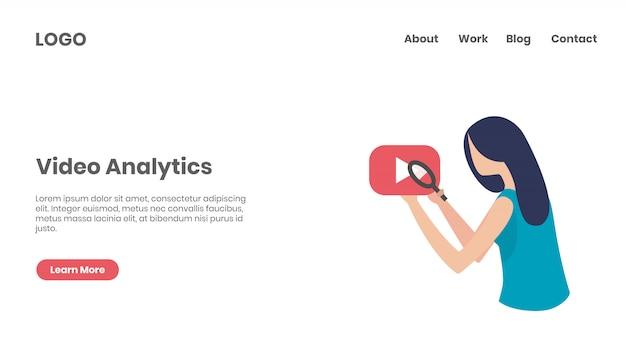 Página de inicio del concepto de analítica de video