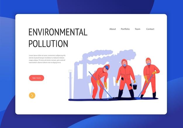Página de inicio del concepto de contaminación ambiental
