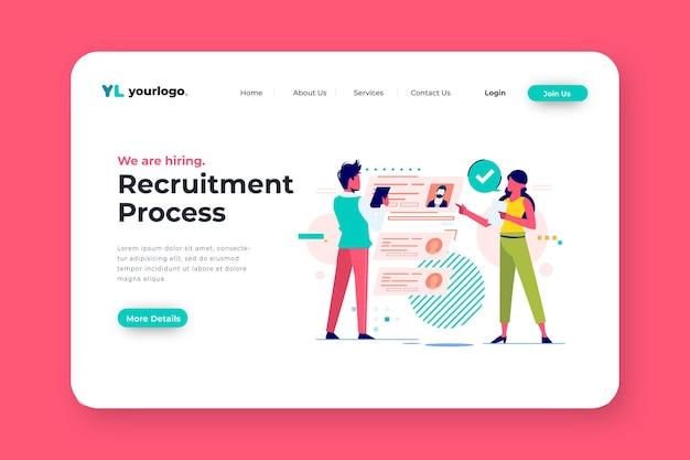 Página de inicio del concepto de contratación