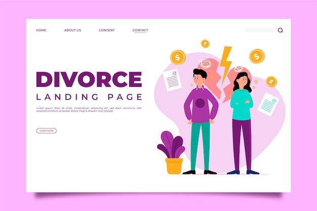 Página de inicio del concepto de divorcio