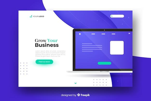 Página de inicio del concepto de negocio