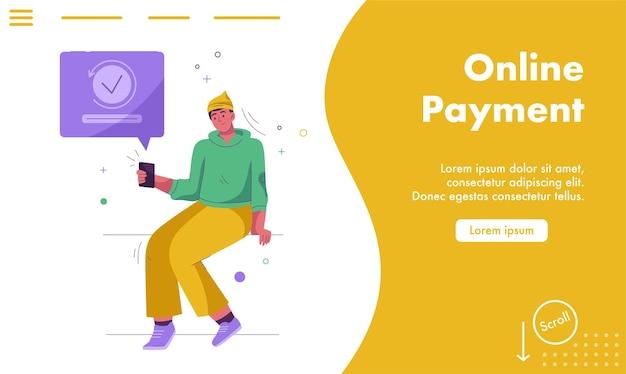 Página de inicio del concepto de pago en línea