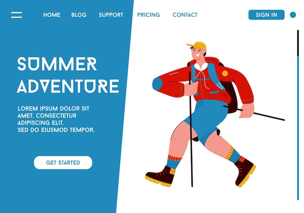 Página de inicio del concepto summer adventure