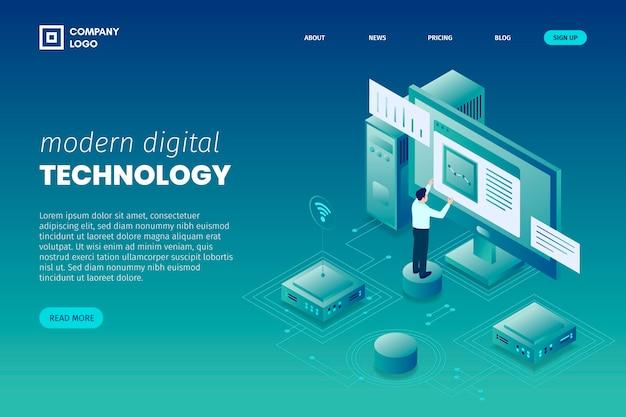 Página de inicio del concepto de tecnología