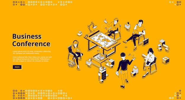 Página de inicio de la conferencia de negocios