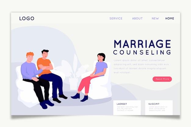 Página de inicio de consejería matrimonial