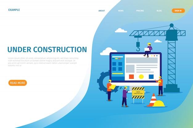 Página de inicio de construcción