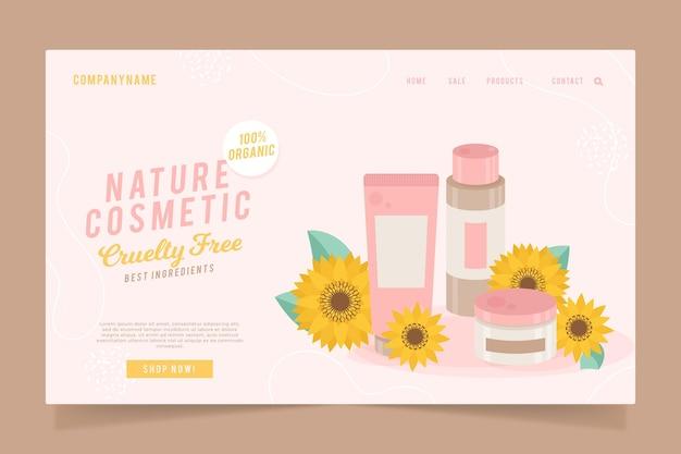 Página de inicio de cosméticos naturales