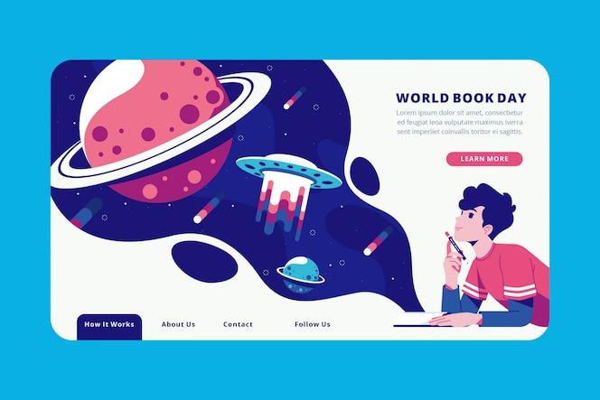 Página de inicio creativa del día mundial del libro