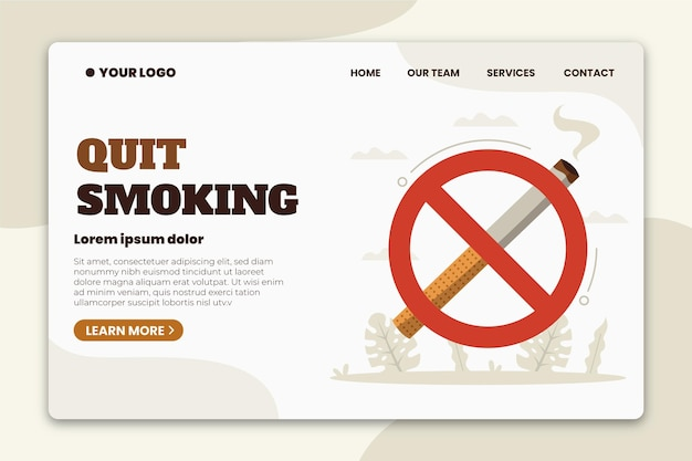 Página de inicio para dejar de fumar