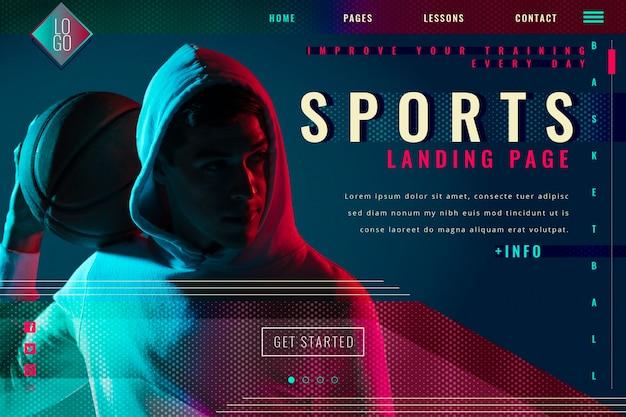 Página de inicio de deporte degradado