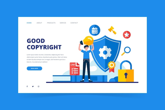 Página de inicio de derechos de autor