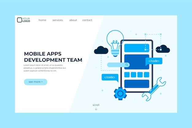 Página de inicio de desarrollo de aplicaciones