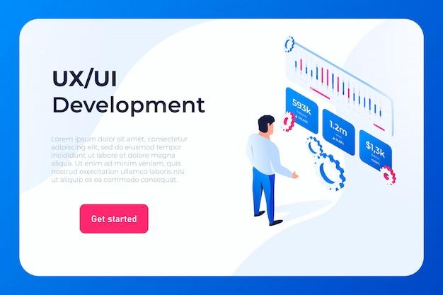 Página de inicio de desarrollo ui ux