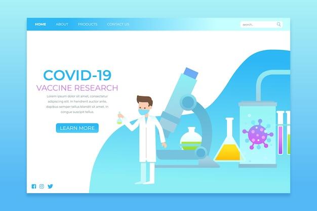 Página de inicio del desarrollo de la vacuna contra el coronavirus