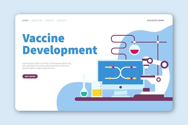 Página de inicio de desarrollo de vacunas