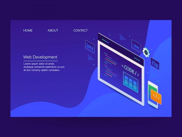 Página de inicio de desarrollo web