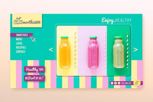 Página de inicio de detox organic smoothie bar