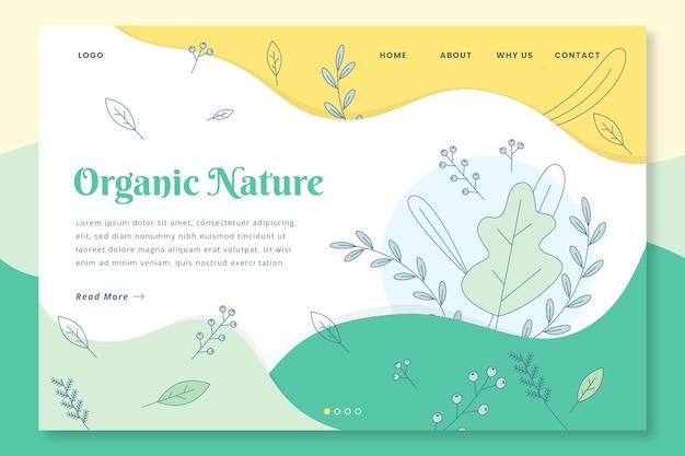 Página de inicio dibujada a mano de la naturaleza