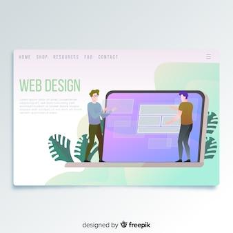 Página de inicio de diseño web
