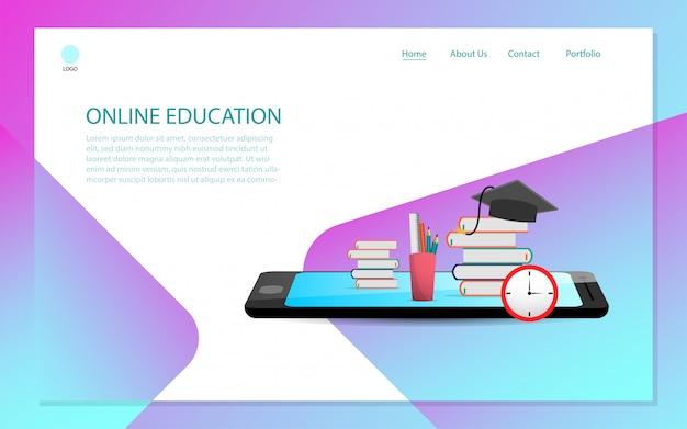 Página de inicio de educación en línea