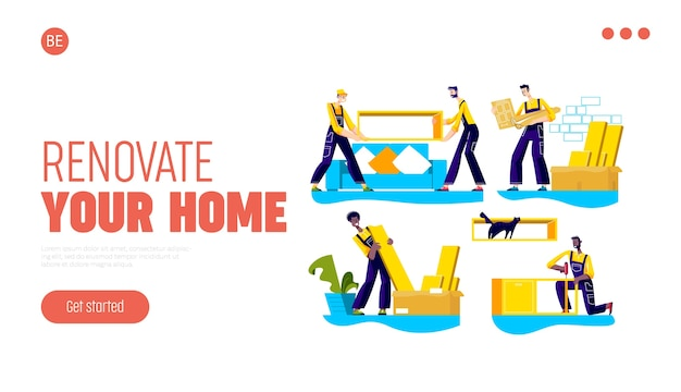Página de inicio de la empresa de servicios de renovación, reubicación, entrega de muebles y montaje de viviendas