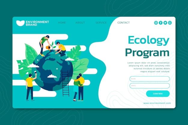 Página de inicio del entorno ambiental