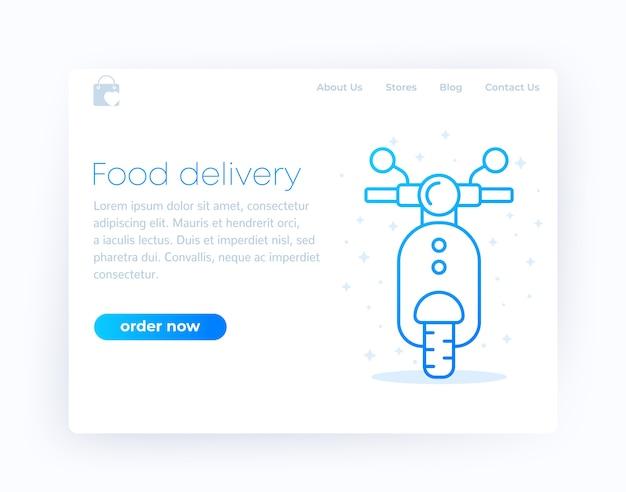 Página de inicio de entrega de alimentos,