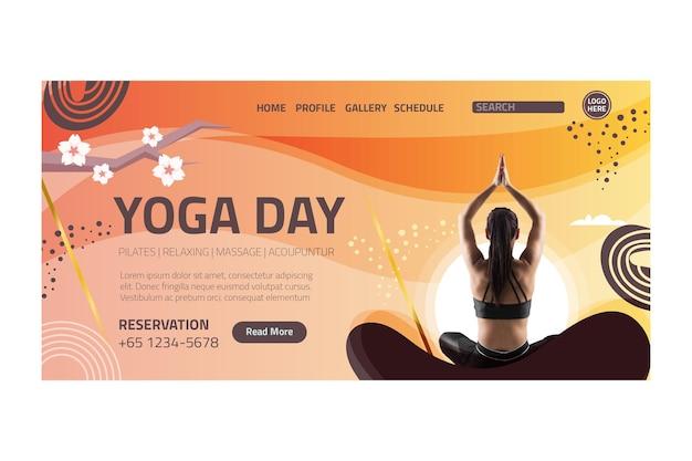 Página de inicio de equilibrio corporal de yoga
