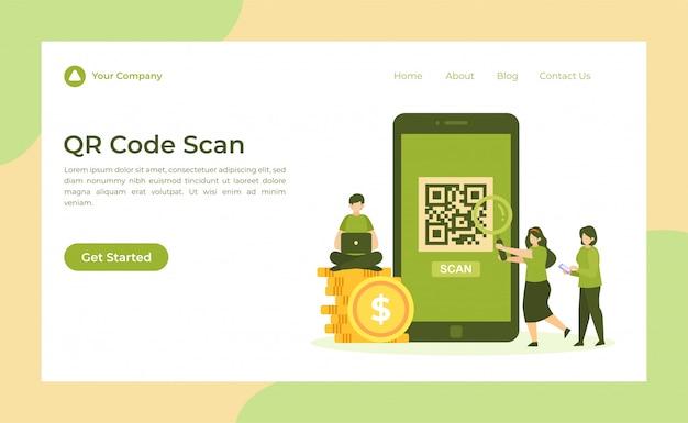 Página de inicio de escaneo de código qr