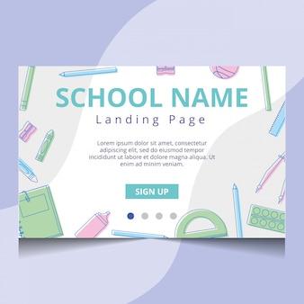 Página de inicio de la escuela