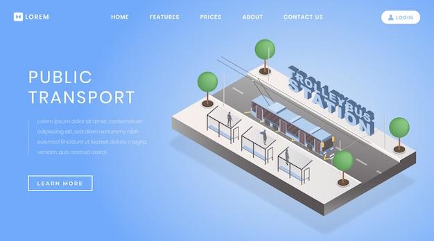Página de inicio de la estación de trolebuses