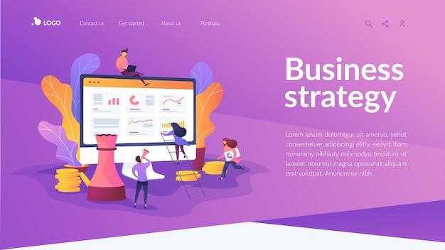 Página de inicio de estrategia empresarial
