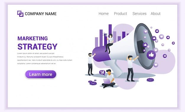 Página de inicio de estrategia de marketing.