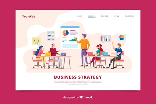 Página de inicio de estrategia de negocios