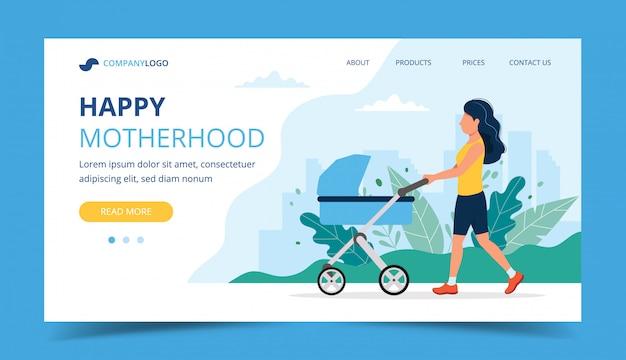 Página de inicio de la feliz maternidad