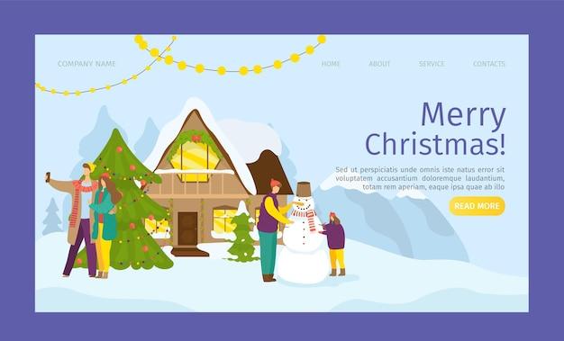 Página de inicio de feliz navidad