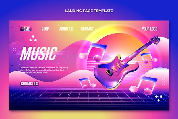 Página de inicio del festival de música degradado