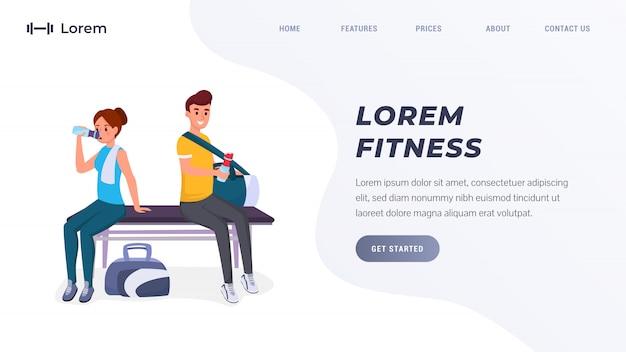 Página de inicio de fitness