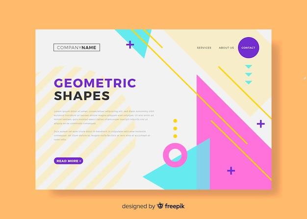Página de inicio de formas geométricas