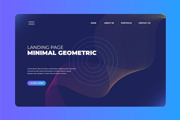 Página de inicio geométrica mínima