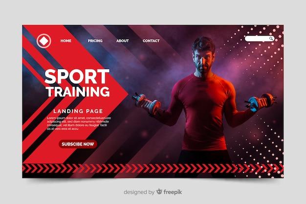 Página de inicio del gimnasio deportivo