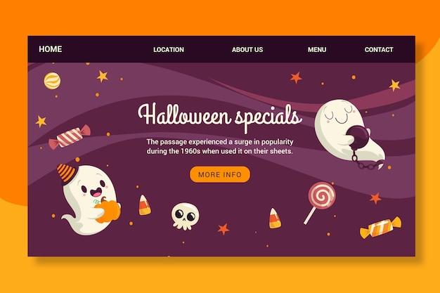 Página de inicio de halloween